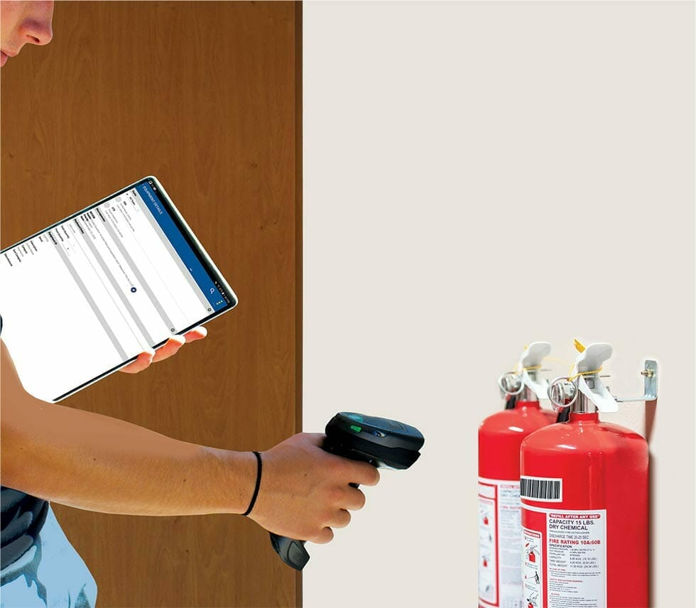 fire extinguisher barcode inspection software